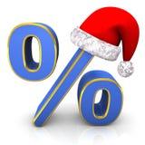 百分比圣诞老人盖帽 库存图片