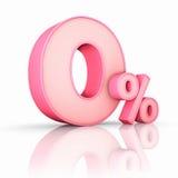 百分比粉红色零 免版税库存图片