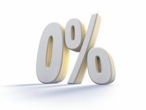 百分比零 免版税库存照片