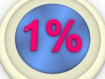 百分比 库存例证