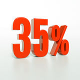 百分率符号, 35% 免版税图库摄影