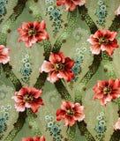百合的原始的织物装饰品 缸是手画与树胶水彩画颜料 库存例证
