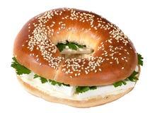 百吉卷干酪heeseburger 免版税库存照片