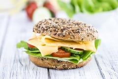 百吉卷用乳酪(荷兰扁圆形干酪) 免版税图库摄影