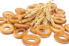 百吉卷耳朵麦子 免版税库存图片