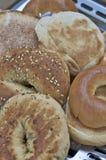 百吉卷英格兰式松饼 免版税库存照片