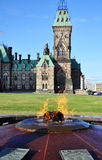百年火焰小山渥太华议会 图库摄影