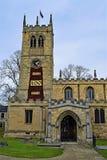 百年鸦片显示和入口对圣皮特圣徒・彼得的教会,Conisbrough,唐卡斯特 免版税库存图片