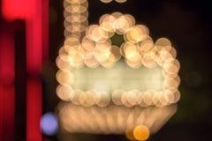 百老汇剧院大门罩点燃Bokeh 库存照片