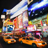 百老汇展示广告牌 免版税库存图片