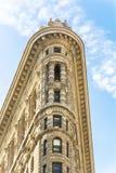 从百老汇的平的铁大厦门面 库存照片