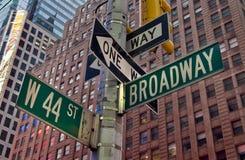 百老汇纽约 库存照片