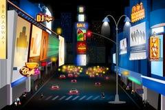 百老汇,纽约城市夜生活  库存图片