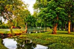 百年公园owasso俄克拉何马 免版税图库摄影