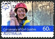 百年女孩引导澳大利亚邮费 库存图片