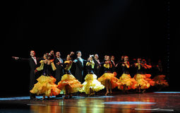整洁的专栏-典雅的华尔兹这奥地利的世界舞蹈 库存图片