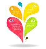 介绍的五颜六色的标志infograpics 向量例证