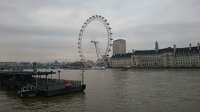 从的伦敦眼睛 库存图片