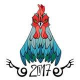 2017年的公鸡标志 免版税库存图片