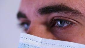 的关闭或宏指令医生的眼睛 影视素材
