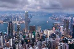 的具体森林香港的双方 免版税图库摄影