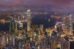 的具体森林香港的双方 免版税库存照片