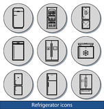 轻的冰箱象 免版税库存图片