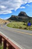 死的印地安高速公路, Cody怀俄明 免版税库存照片