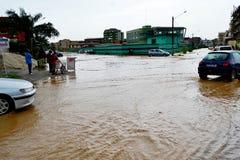 洪水的危险 库存图片