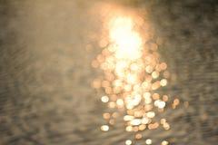 从水的反射的Boke 免版税库存图片