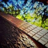 2的古典吉他关闭 免版税库存照片