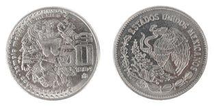 古色古香的墨西哥硬币 图库摄影