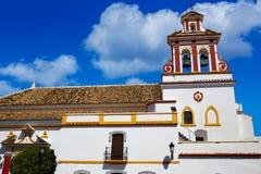 的吉列纳教会通过de拉普拉塔方式西班牙 免版税库存照片