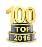 年的名列前茅100 免版税库存照片
