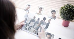 的商人的综合图象开会议 免版税库存图片