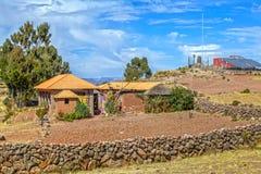 的喀喀湖的,普诺,秘鲁Taquile海岛 库存图片