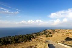 的喀喀湖的,普诺,秘鲁Taquile海岛 免版税库存图片