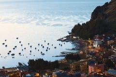 的喀喀湖的,玻利维亚科帕卡巴纳 免版税库存图片