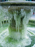 冻结的喷泉 免版税库存图片