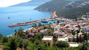 水的土耳其城市 库存照片