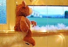 的圣诞前夕等待的圣诞老人 免版税库存照片