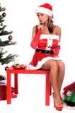 的圣诞老人夫人性感 免版税库存图片