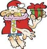 傻的圣诞老人 库存例证