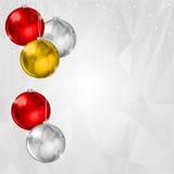 轻的圣诞节背景 图库摄影