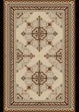 轻的地毯的东方样式有米黄和棕色树荫的 库存图片