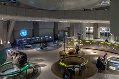 的地球和空间霍尔美国自然历史博物馆AMNH -纽约,美国 免版税图库摄影