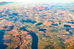 从10的地球照片 000m在地面上 库存图片