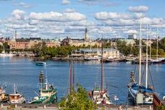 水的城市,斯德哥尔摩 图库摄影