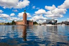 水的城市,斯德哥尔摩 免版税图库摄影