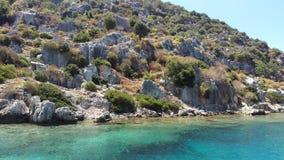 死的城市, Kekova海岛,土耳其 库存图片